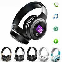 B19 Zealot Wireless Headset Headphone Stereo Bluetooth 5.0 TF MIC FM Radio LCD