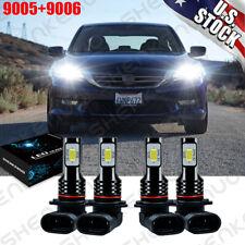 For Honda Accord 2003 2007 Led Headlight Bulbs White Highlow Beam 9005 9006 Kit