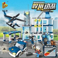 City Police, Robber, Helicopter and Police Car Building Block Brick Toy, 468 pcs