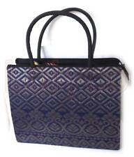 Handbag Gold Blue Songket - New