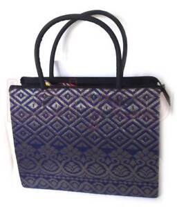 Handbag Gold Blue Songket - New