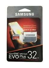 Samsung EVO+ 32GB Micro SD SDHC Card Adapter for Galaxy J1/J3/J5/J7,Note 4/3/2