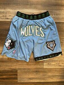 Minnesota Timberwolves Summer City Teal Old School Basketball Team Shorts M-XL