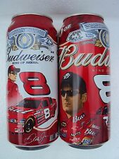 BUDWEISER DALE EARNHARDT JR # 8 /  TWO DIFFERENT 16 oz. beer cans