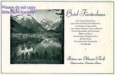 Hotel Fürstenhaus Pertisau am Achensee Reklame 1928 Tirol Österreich Werbung