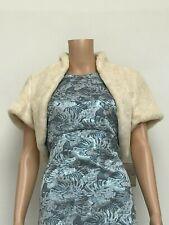 Worn Once Coast Camilla Ivory Cream Faux Fur Jacket Shrug M/L Medium Large 10/12