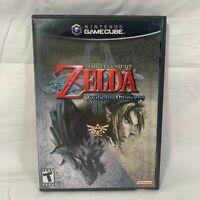 Legend of Zelda: Twilight Princess (GameCube, 2006) Black Label Complete