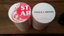 """Stella Artois (125) (3)Pack of Round Beer Mat Coasters 2 Sided Card Board 4"""""""