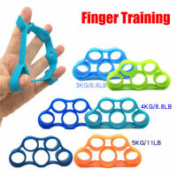 3/Set Finger Stretcher Exerciser Grip Hand Strengtheners Extensor Trainer Bands