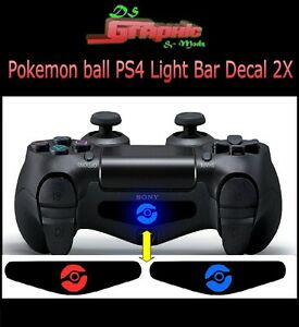Poke Ball Playstation 4 Light Bar Decal Sticker PS4 Controller