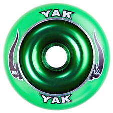 2-100mm x 88a green YAK SCAT Metalcore Scooter Wheel with bearings