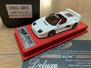 BBR DELUXE 22ADL #02/05 Ferrari Testarossa KOENIG cabrio spider limited  1/43
