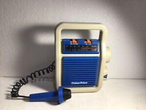 Vintage 1984 Fisher Price My First AM/FM Sing-Along Radio With Microphone