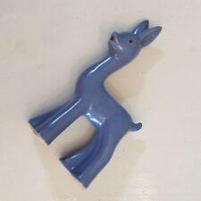 "Shawnee Deer Planter Blue Mid Century Modern ART DECO POTTERY 7"" USA Cold Paint"