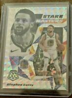 2019-20 Panini Mosaic Stephen Curry Stare Masters #15 Silver PRIZM GS Warriors