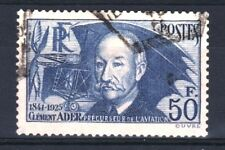 """FRANCE STAMP TIMBRE YVERT 398 """" CLEMENT ADER 50F OUTREMER """" OBLITERE TB R859"""