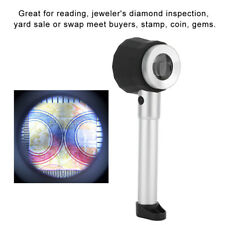 High Quality 10X Optical Magnifier glass LED Lighted Jeweler loupe with Scale