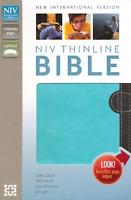 NIV Thinline Bible, Italian Duo-Tone, Chocolate/Turquoise BRAND NEW!!!