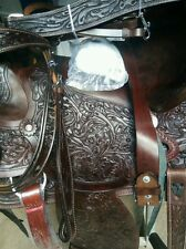 Western rodeo cowboy tack pleasure wade leather horse saddle breastplate bridle