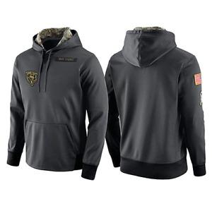 Chicago Bears Zipper Ultra Game NFL Men's Full Zip Soft Fleece Raglan Hoodie USA