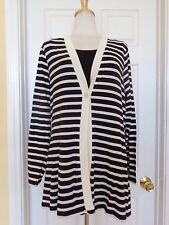COLDWATER CREEK striped sweater size 14