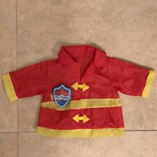 1986 My Buddy Firefighter Costume, Badge Playskool Hasbro Doll Clothes Vint