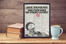One Flew Over The Cuckoos Nest  Upcycled Vintage Dictionary Page Art Print A4