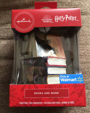 Hallmark Ornaments 2020 Harry Potter Wizarding World Books And Wand. Exclusive