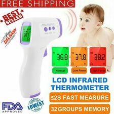 2020 Lcd Digital Display Baby Ir Infrared Forehead Thermometer Temperature Fda Q