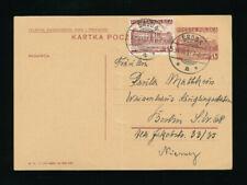 Polen, Ganzsachen-Karte 1937 aus Sroda nach Berlin + ZF,  (O21)