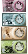 LOT SET SERIE 4 BILLETS ALDABRA ISLANDS DOLLARS 2019 REINE ELIZABETH II FLAMANT
