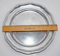 "Wilton RWP Armetale PEWTER Columbia PA 12 "" PLATE TRAY CHARGER by LOREN HANCOCK"