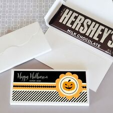 24 Personalized Classic Halloween Candy Bar Wrappers Party Favors