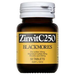 Blackmores ZinvitC250 50 Tablets Zinc, Magnesium + Vitamin C Immune Health