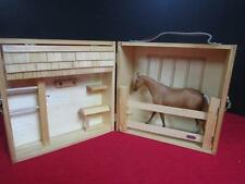 "Breyer HORSE STABLE with HORSE 6 1/2"" by 8""/ Wood Folding Barn"