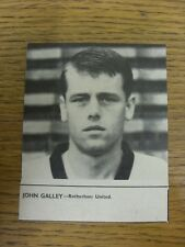 """01/10/1965 Soccer Star Magazine: Cut-Out - Rotherham United - Galley, John (3½"""""""