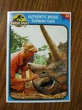 SGT T-REX TURNER # 34 JURASSIC PARK AUTHENTIC MOVIE COLLECTOR CARD KENNER 1993