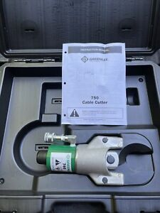 New Greenlee 751-M2 Hydraulic Cable Cutter With Case, 750, 746 Knockout Ram