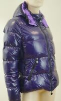 MONCLER Purple Real Down Hooded Padded Puffa Outdoor Jacket Coat Sz3 UK12