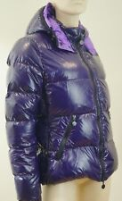 Moncler Púrpura Real Abajo Puffa Acolchado con Capucha Abrigo Chaqueta al Aire Libre Sz3 UK12