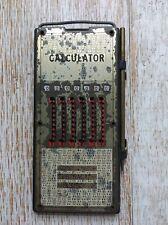 Vintage Manual Calculator Made In Hong Kong !