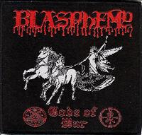 Blasphemy Gods patch Black Metal Bathory Sarcofago Conqueror Order From Chaos