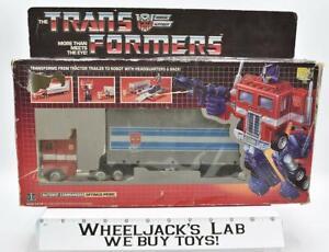 Optimus Prime NEAR MINT FIGURE 100% Complete 1985 Vintage G1 Transformers