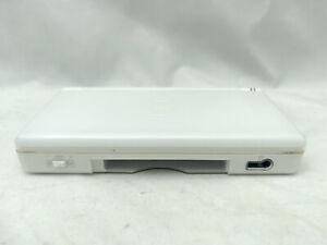 Nintendo DS Lite Polar White Handheld Game Console Hairline Hinge Chip [1056]