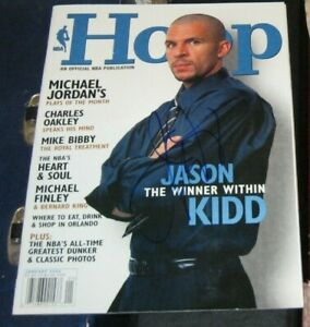 Jason Kidd New Jersey Nets SIGNED AUTOGRAPHED NBA Hoop Magazine COA January 2002