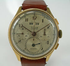 HAU TITUS Dato-Compax Chronograph Tripple Date Vollkalender Landeron