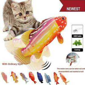 Electric Dancing Fish Kicker Cat Toy Wagging Realistic Interactive Moves AU Q9V2