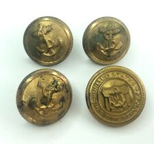 E Vtg Retro USA Navy Maritime Anchor Brass Buttons