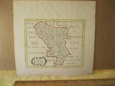 Vintage Print,COUNTY OF DARBY,J.Seller,London,18th Cent.Color