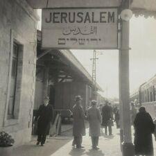 Palestine Jaffa-Jerusalem Railway Station Train de Luxe Railroad Stereoview D294